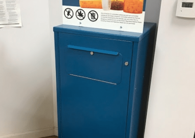 Drop box at South Hero Pharmacy